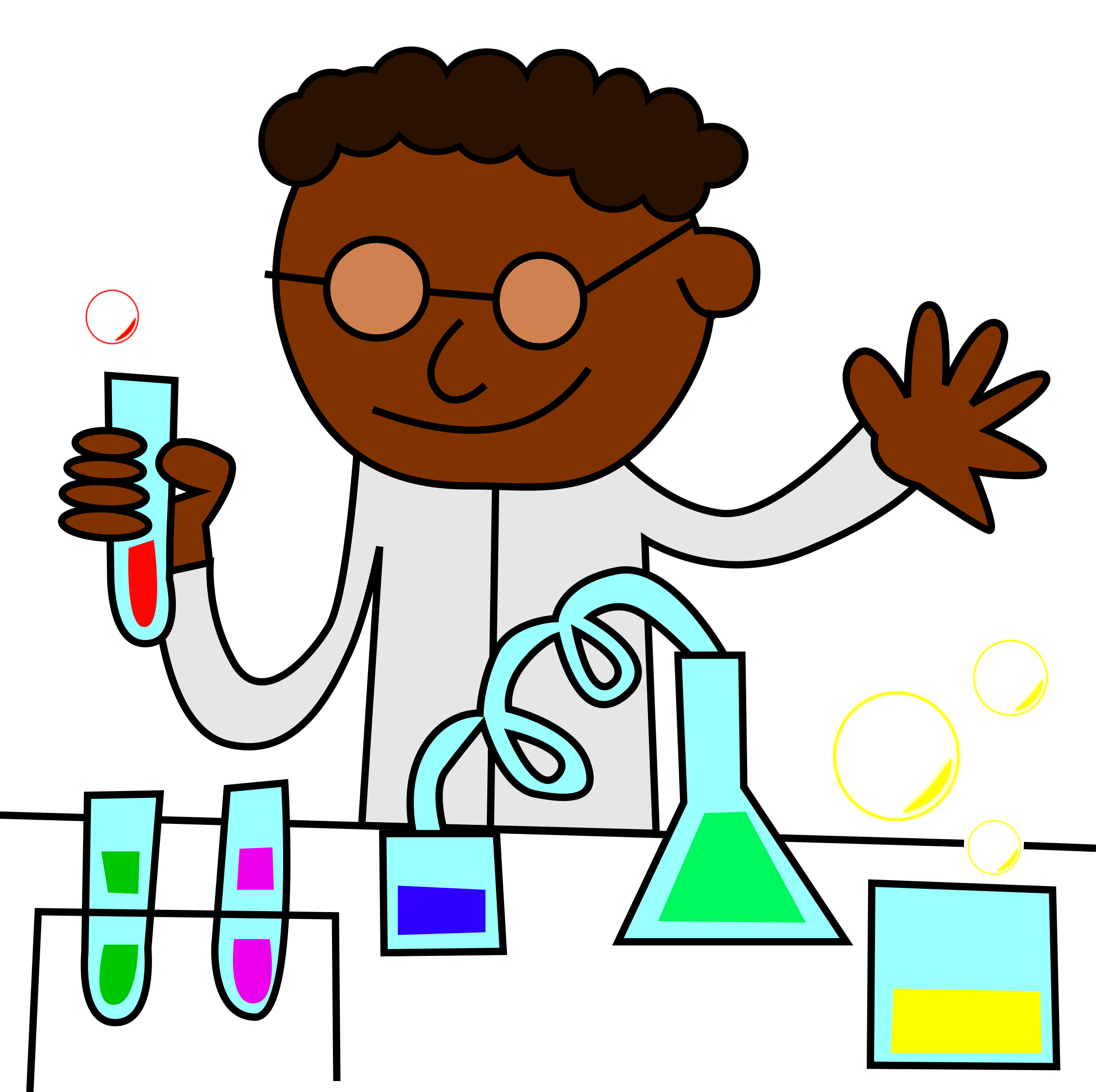 Making a png transparent. Clipart chemist same really