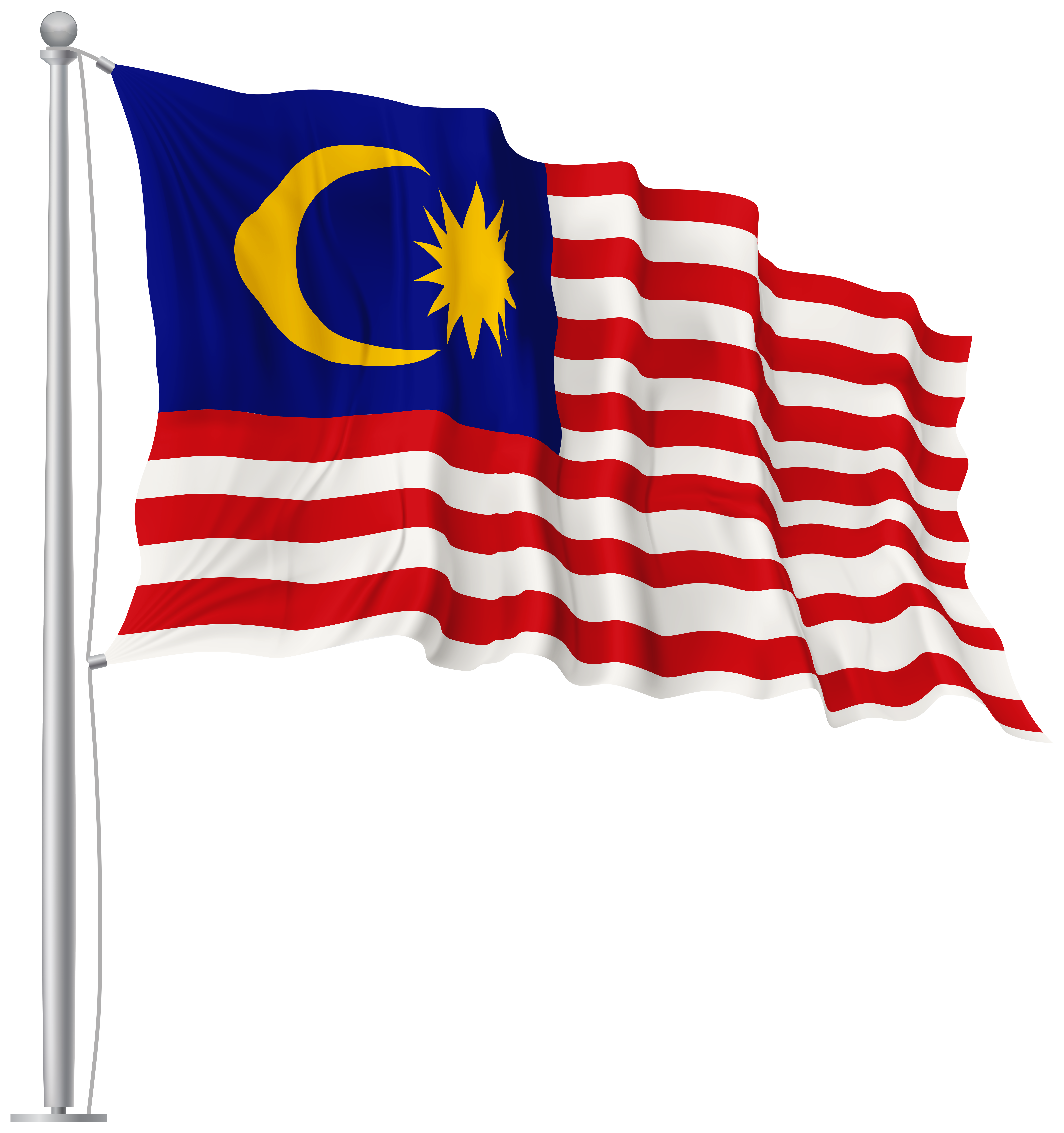 Malaysia waving flag image. Flags png banner library stock