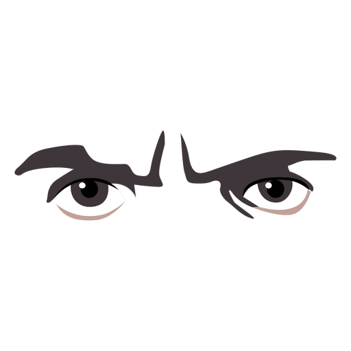 Anime eyes png. Angry expression transparent svg