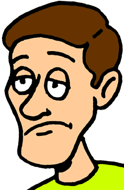 Male clipart 1 person. Sad man