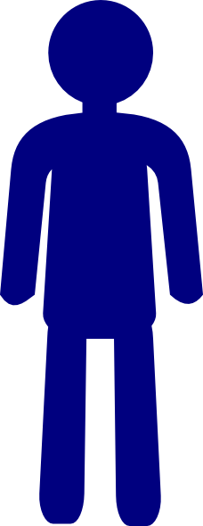 Male clipart 1 person. Standing man clip art