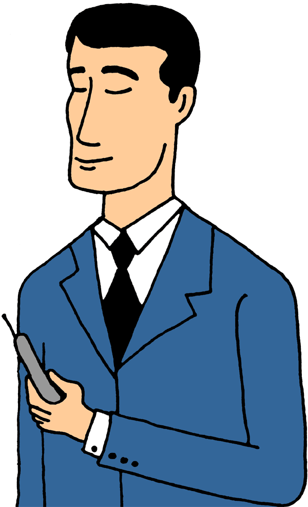 phone clipart guy