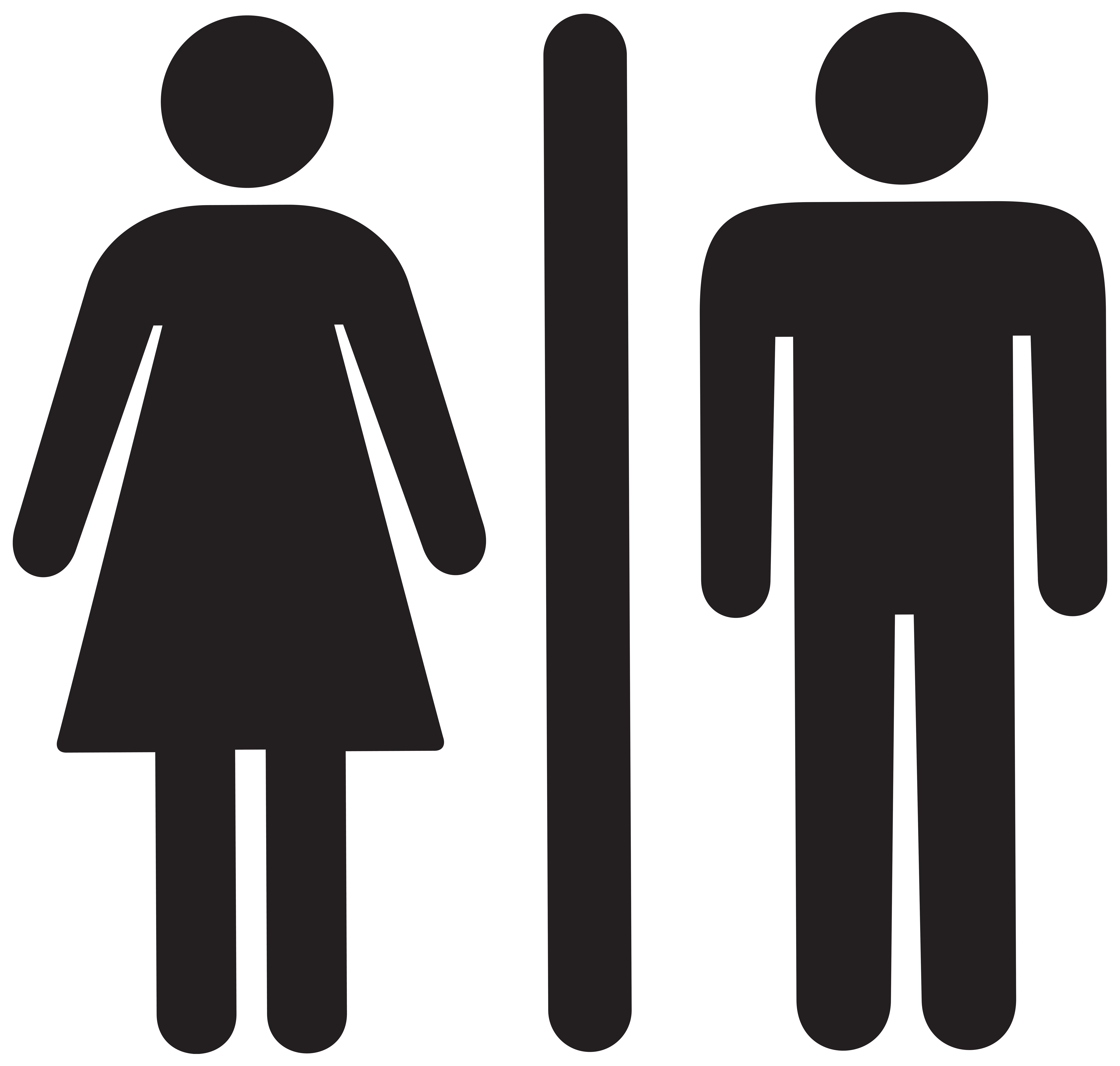 Male clipart transparent. Woman man sign png