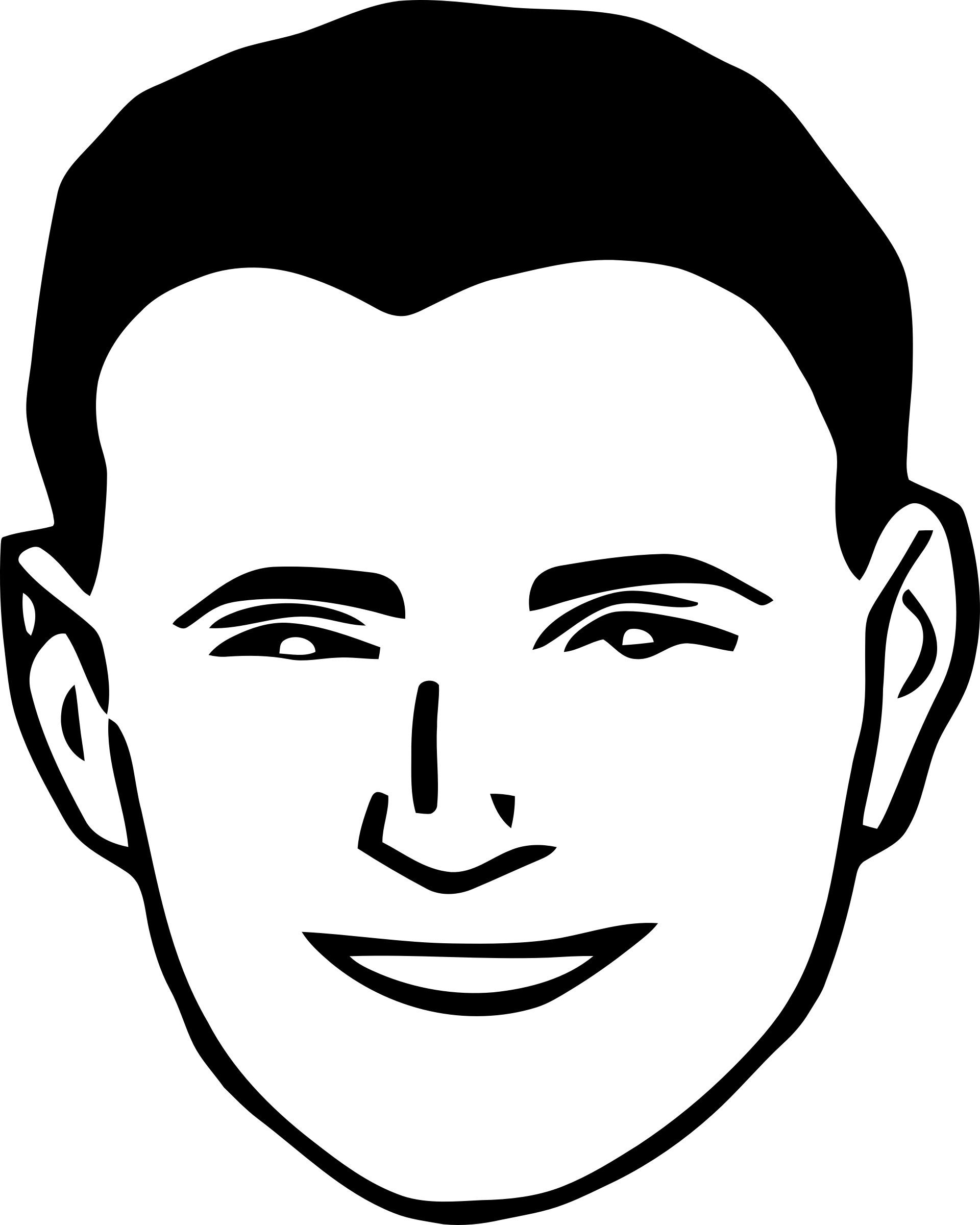 Male eyebrow png. Smiling man icons free