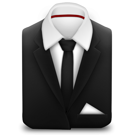 Suit and tie png. Manager coat black icon