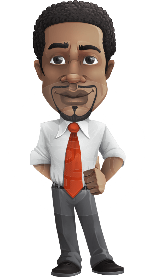 Male vector. Confident businessman character comes
