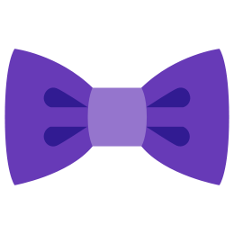 Male vector bow tie. Filled icon free download