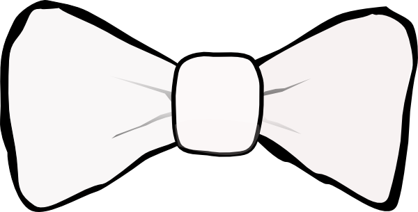 Male vector bow tie. White encode clipart to
