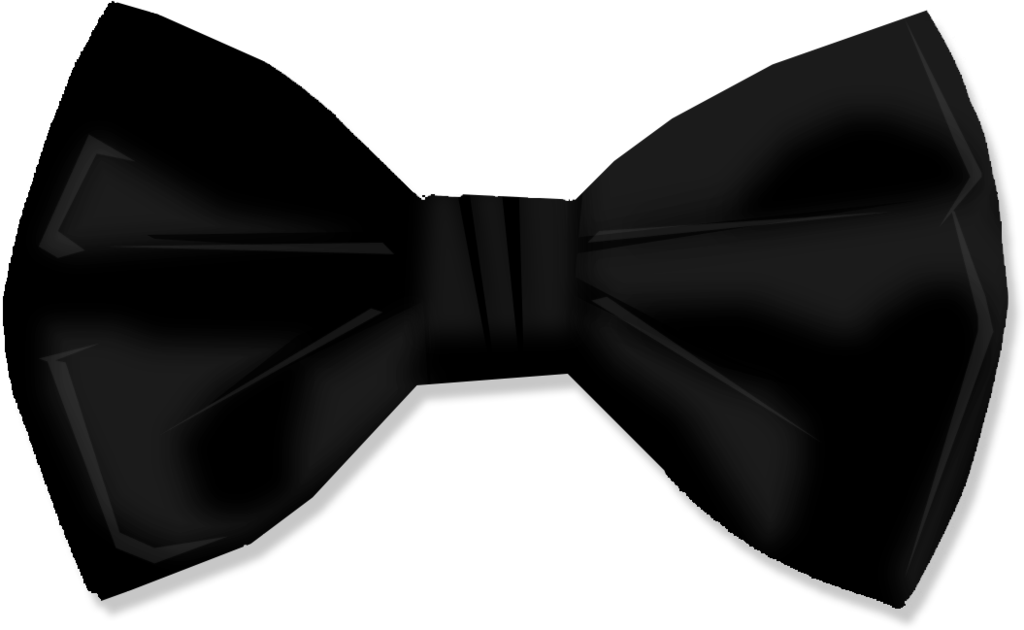 Male vector bow tie. Collection of black