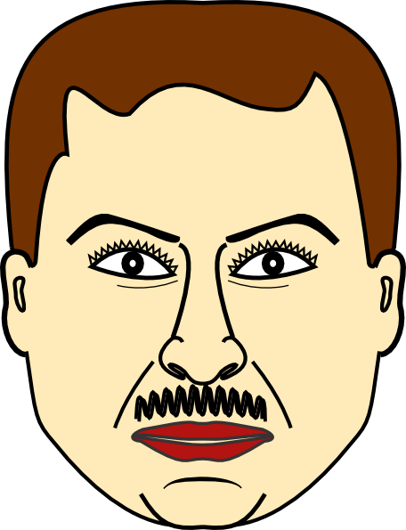 Male vector front face. Free fat guy clipart