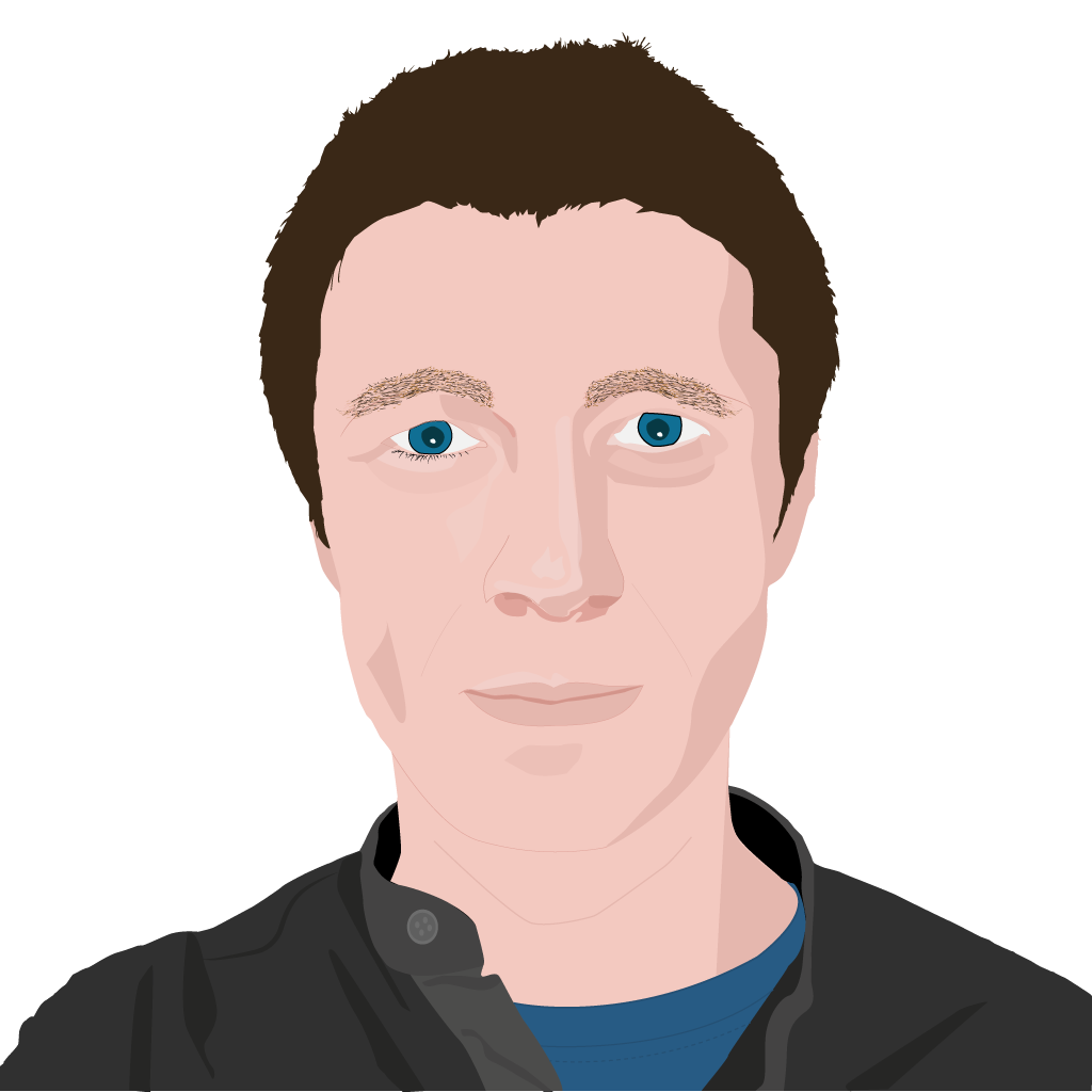 Lukasz dolhun pixel design. Male vector front face vector black and white