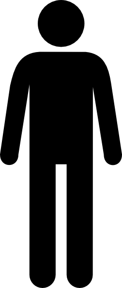 Male vector login icon. Man black clip art