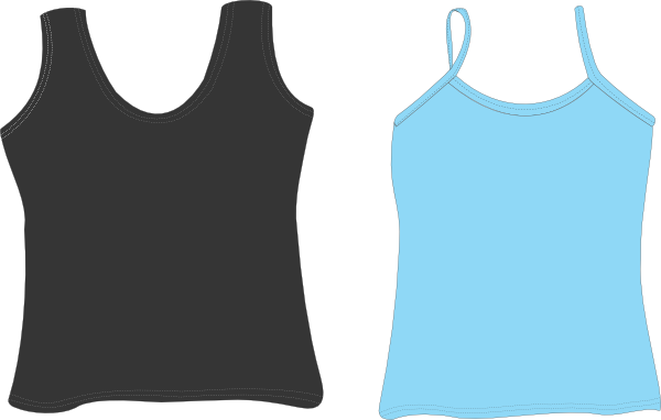 Male vector tank top. Black and white