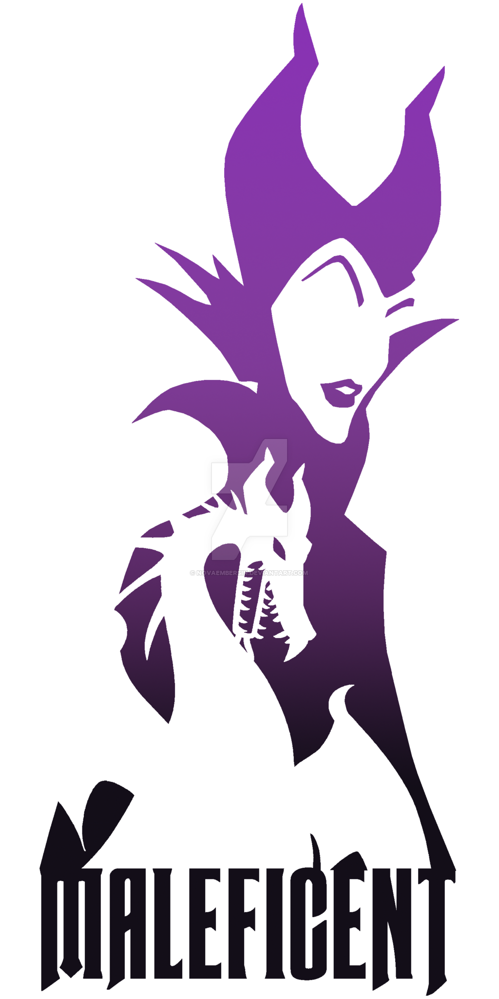 Maleficent vector. Silhouette by novaembersin on