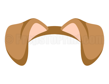 Maleficent vector photo booth prop. Printable dog ears create