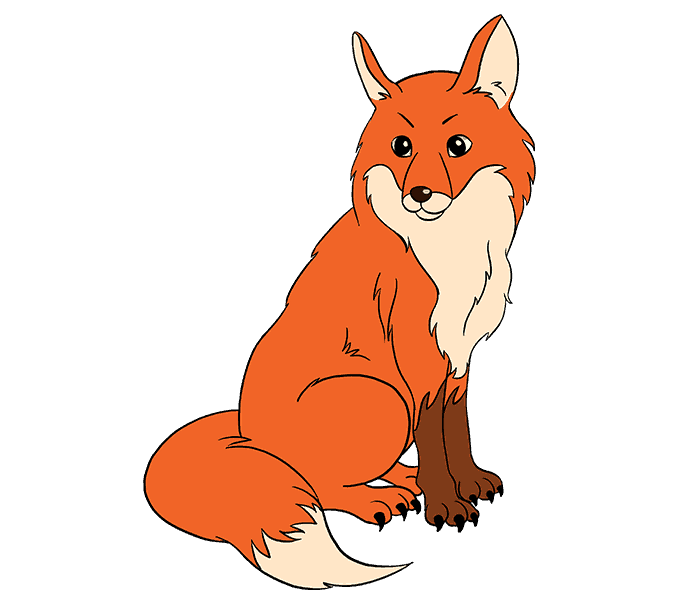 Mammal drawing fox. How to draw a