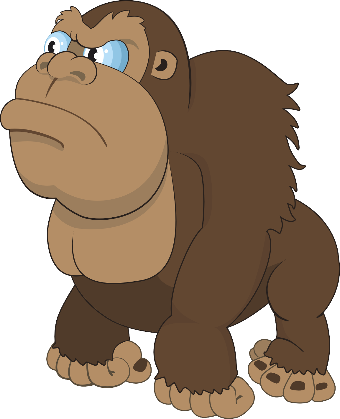 Mammal drawing king kong. Gorilla cartoon ape transprent