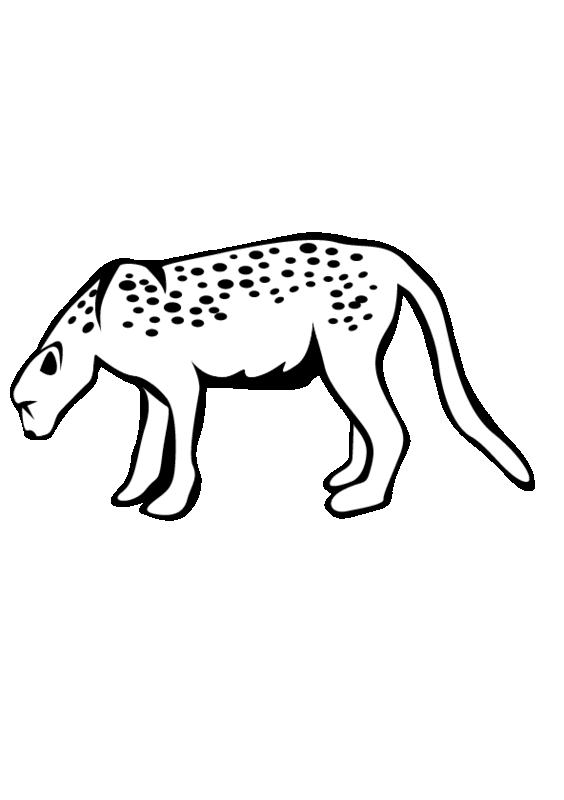 Mammal drawing leopard. Animals printable coloring pages