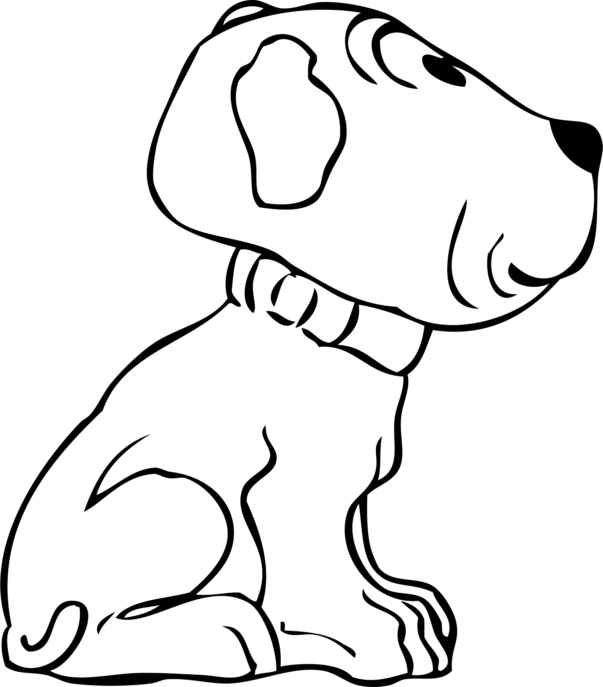 R34 drawing side view. Clipart puppy big image