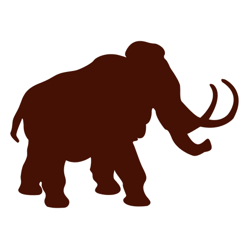 Mammoth vector. Elephant silhouette transparent png
