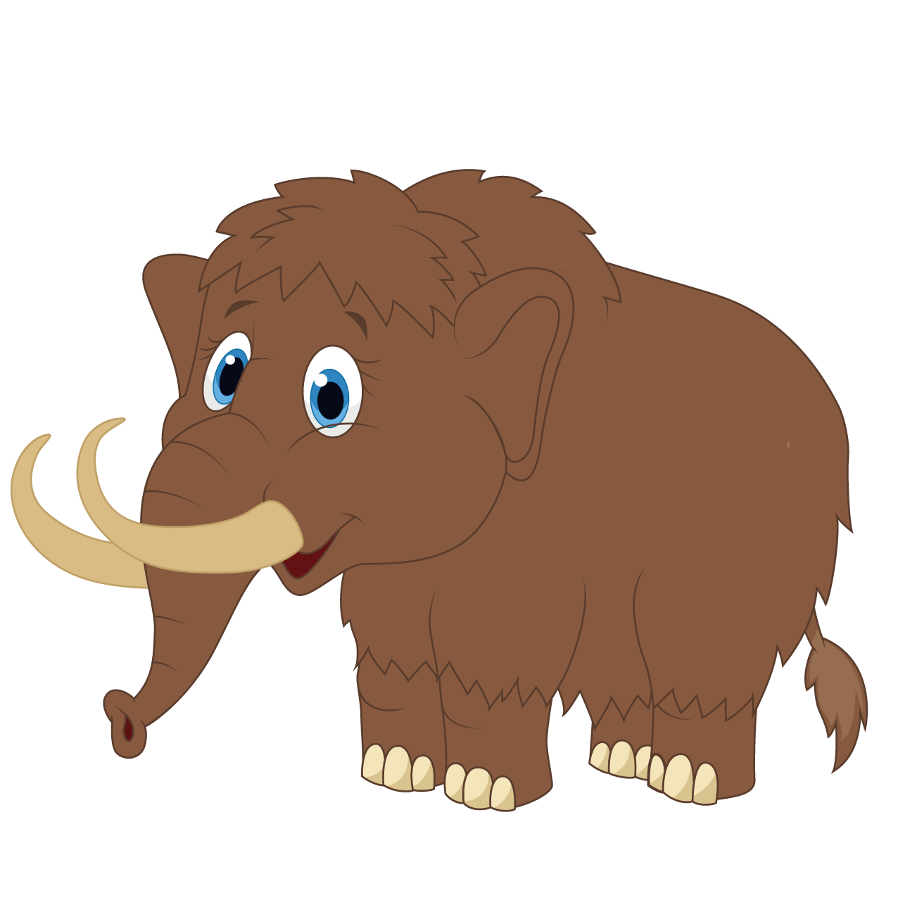 Mammoth vector. Woolly clip art cute