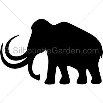 Mammoth vector. Silhouette clip art download