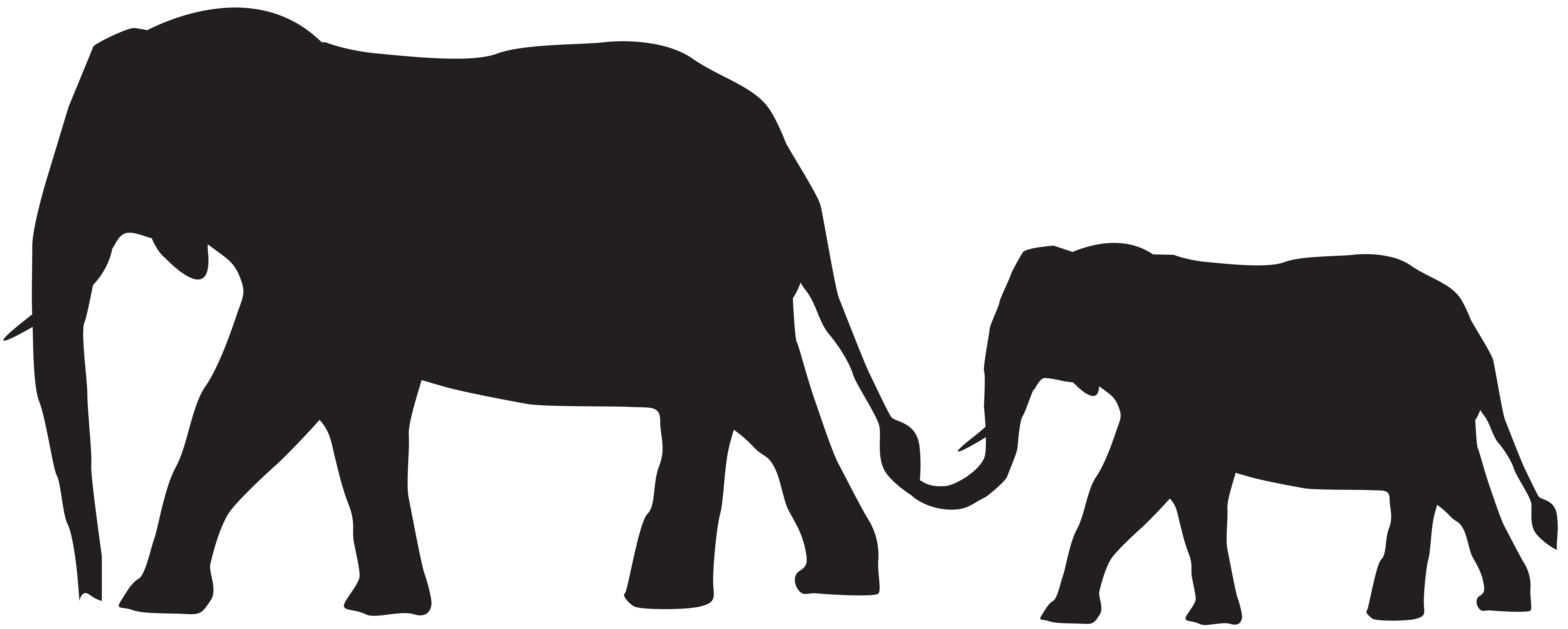 Mammoth vector elephant trunk. Asian silhouette at getdrawings