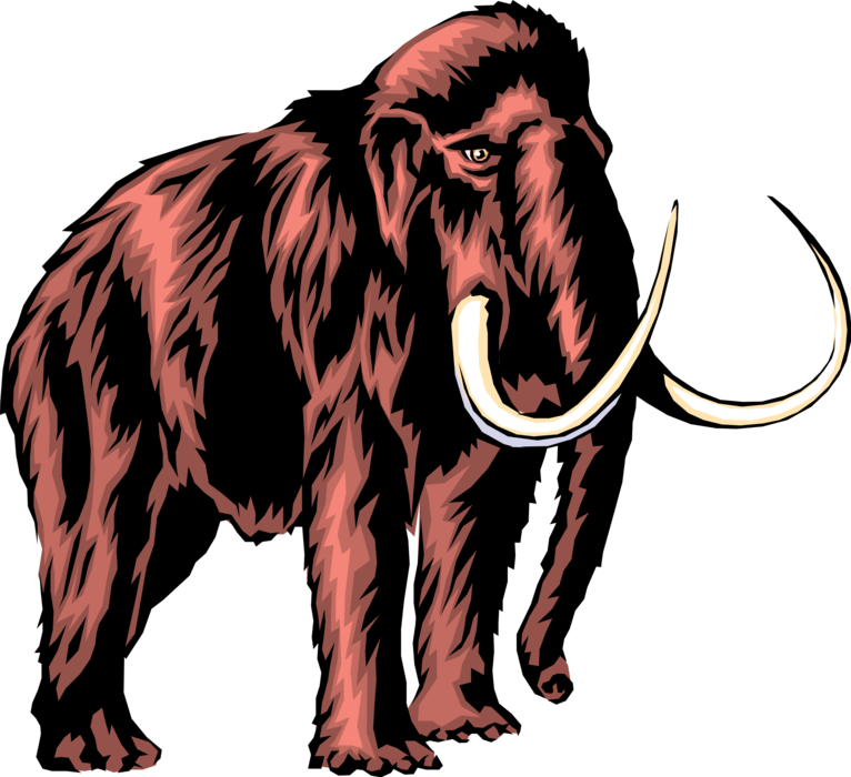 Mammoth vector. Prehistoric woolly image illustration