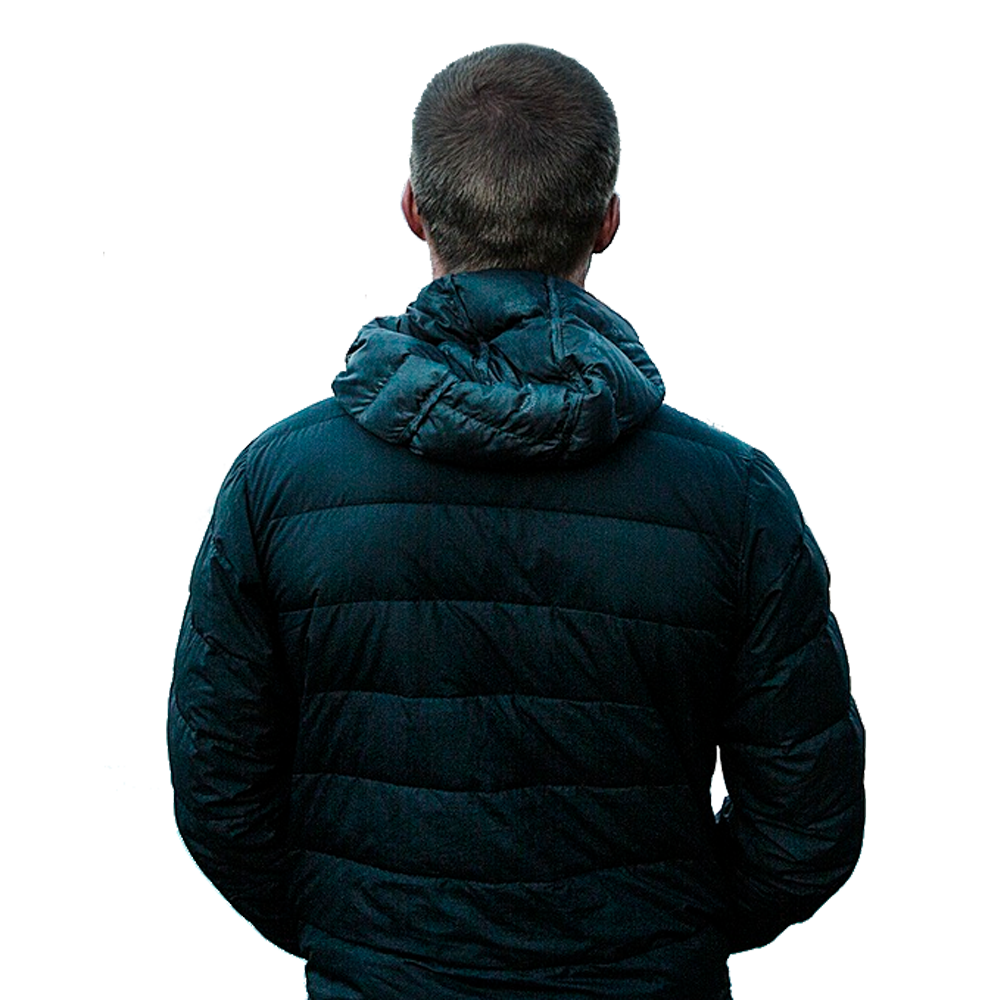 Man back png. From with transparent background