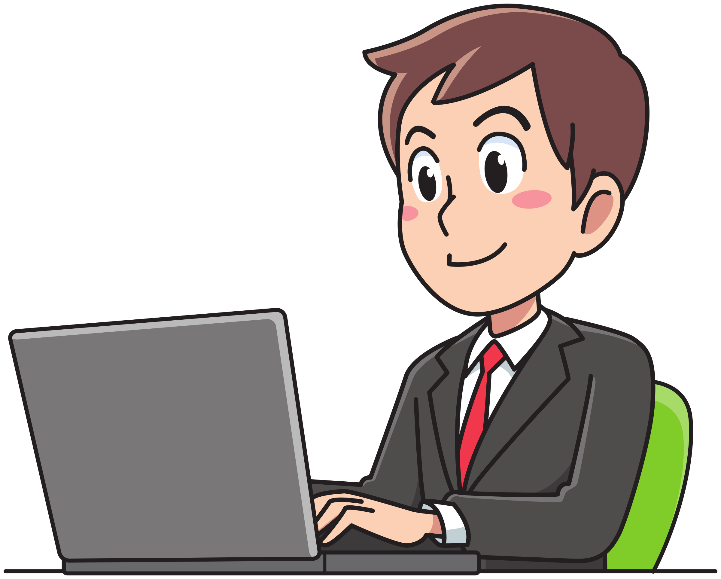 Man cartoon png. Business working icons free