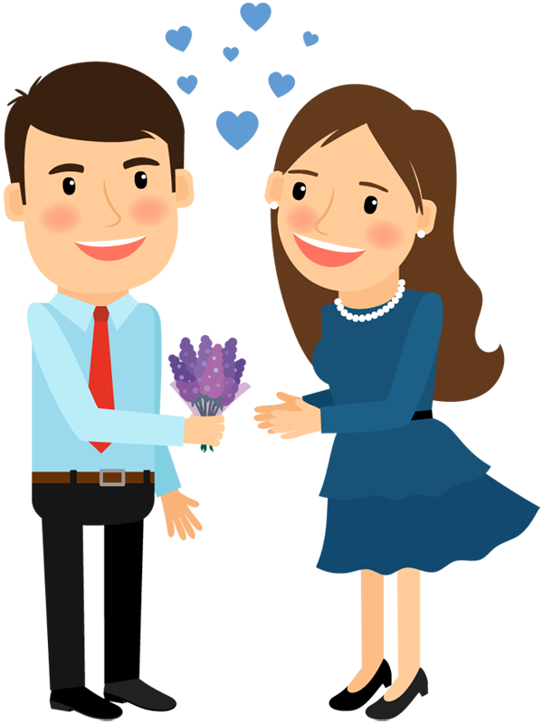 Man cartoon png. Image group gives flower
