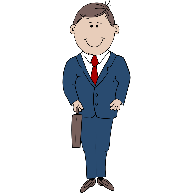 Male clipart interesting person. Man in suit clip