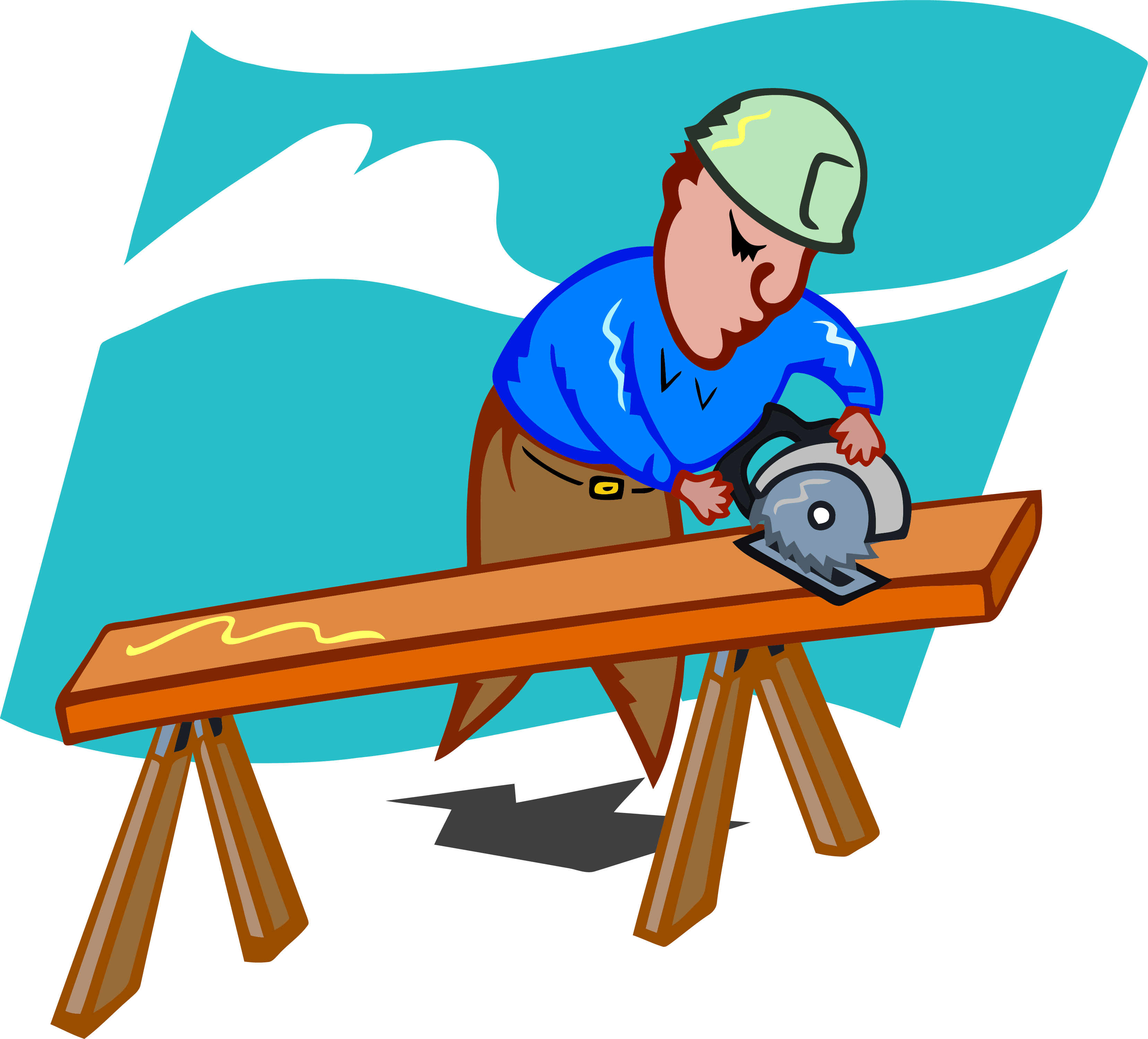 Man clipart carpenter. Sawing png clipartly comclipartly