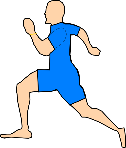 Man clipart runner.