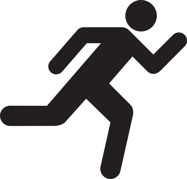 Running man silhouette png. Clipart stick figures