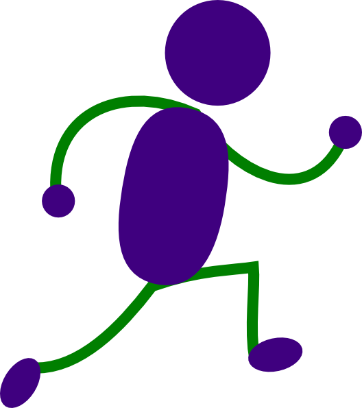 Man clipart runner. Free cartoon person running