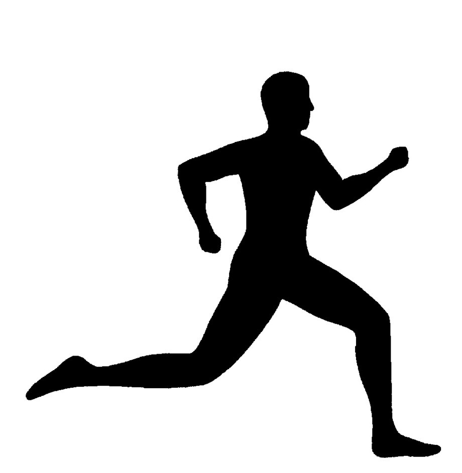 Man clipart runner. Free running transitionsfv silhouette