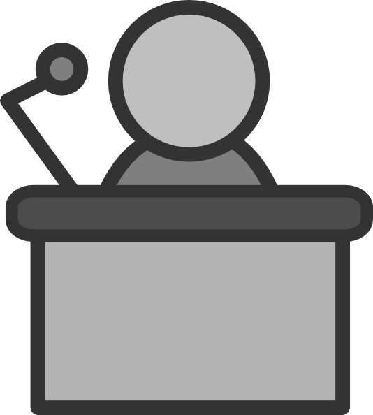 Speakers transparent person. Free speaker cliparts download