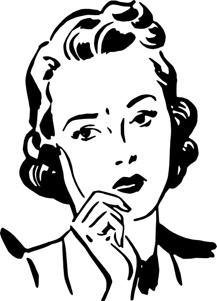 Customer clipart worried. Woman clip art at