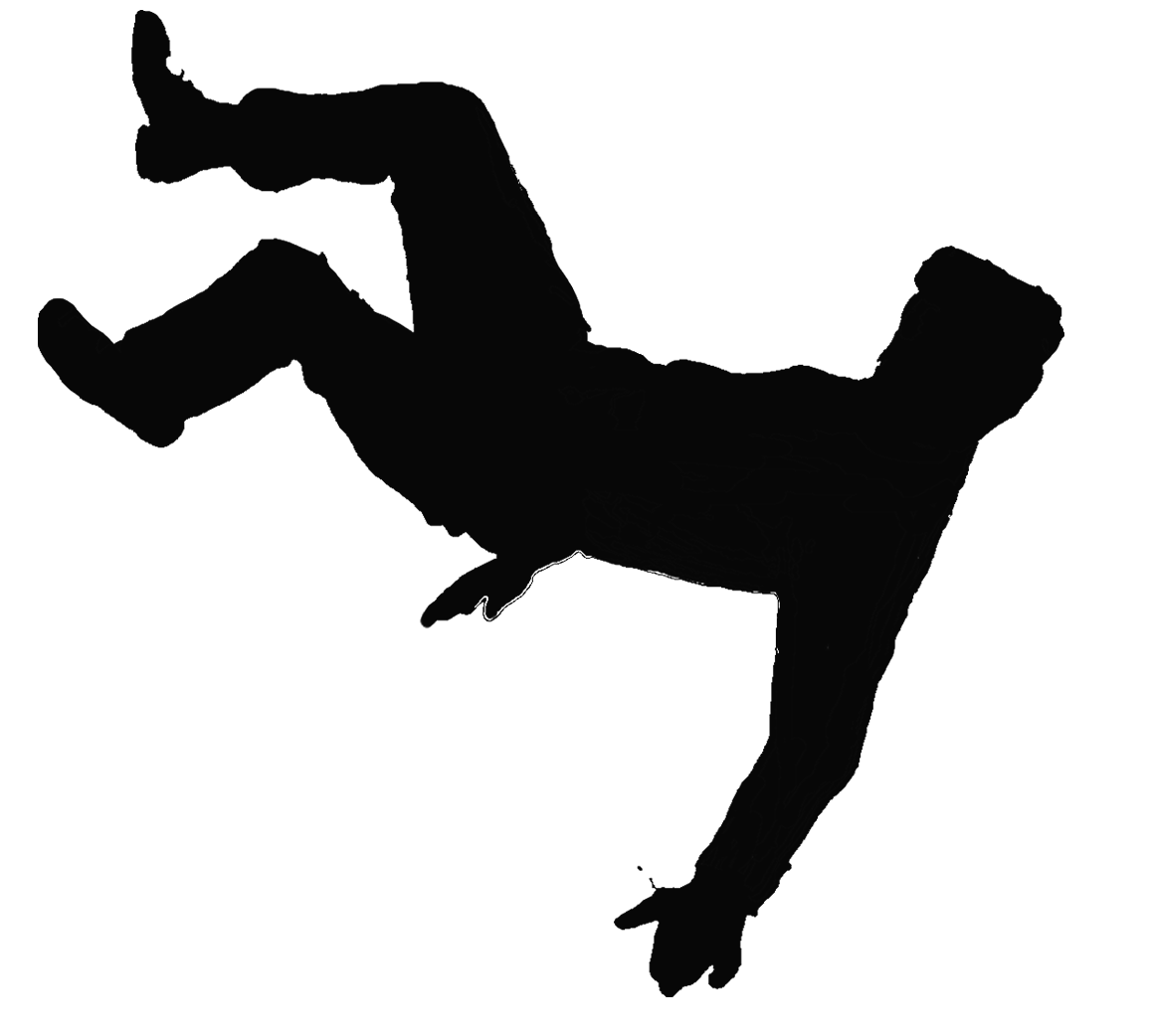 Pic mart. Person falling png vector royalty free