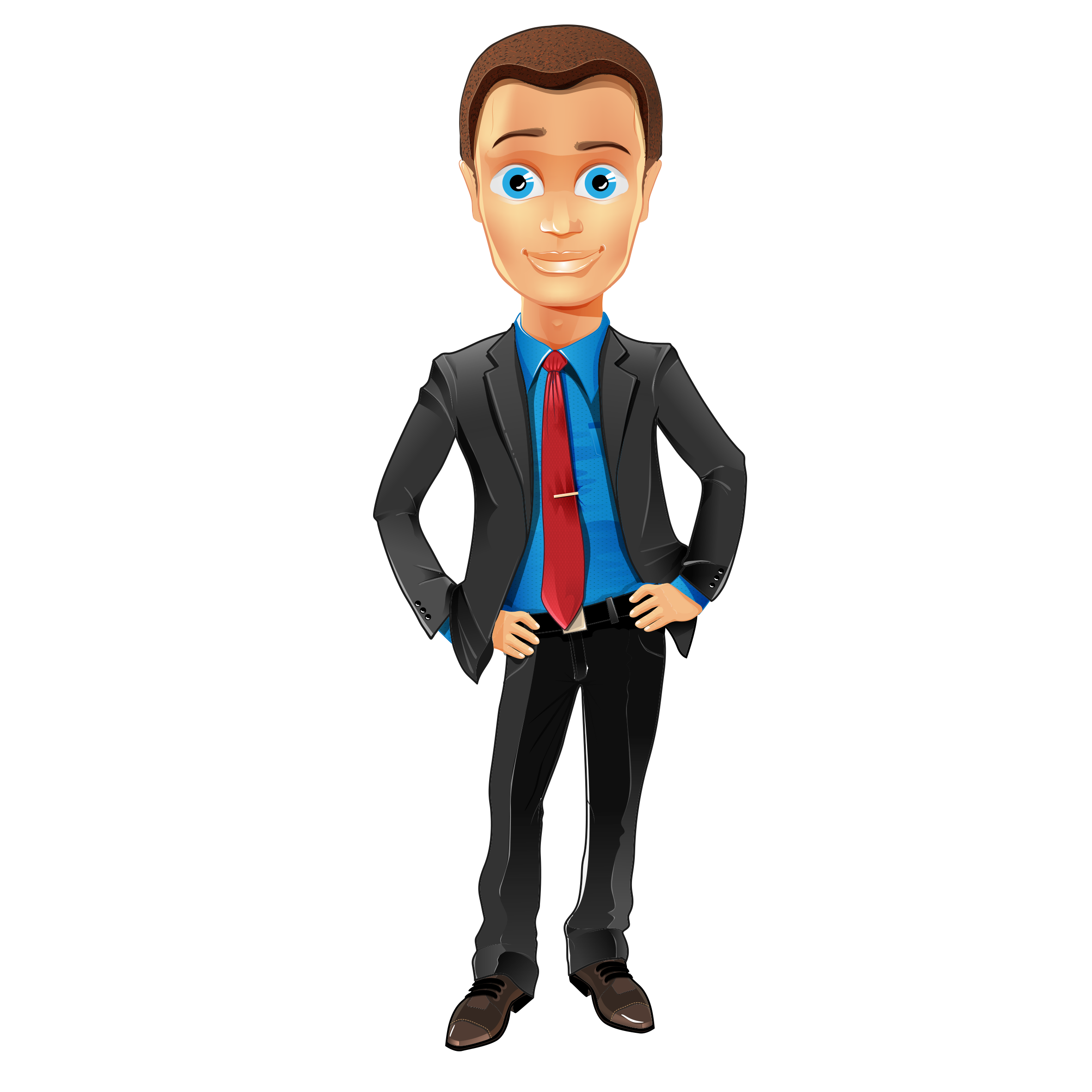 Man in suit cartoon png. Business character illustration people