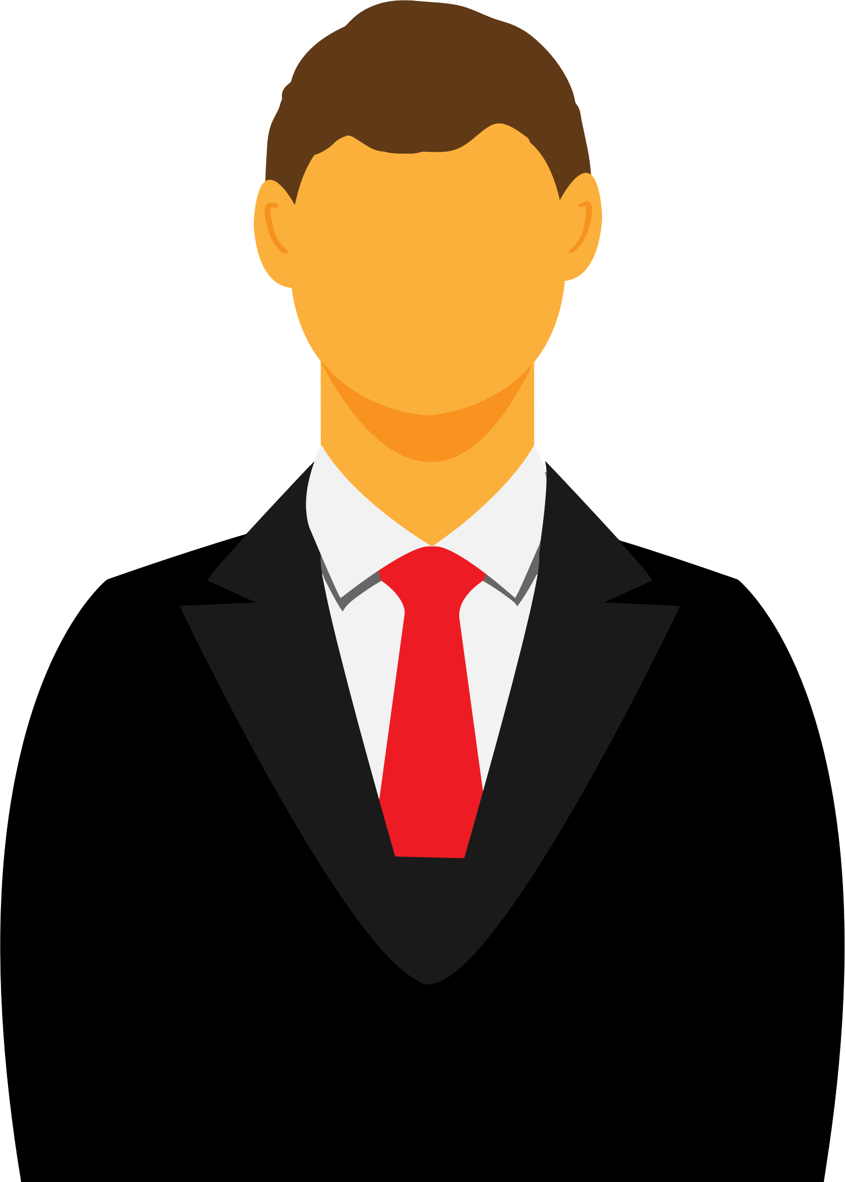 Man in suit cartoon png. Faceless avatar icons free