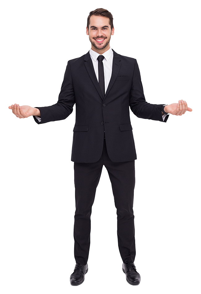 Guy in suit png. A transparent images pluspng