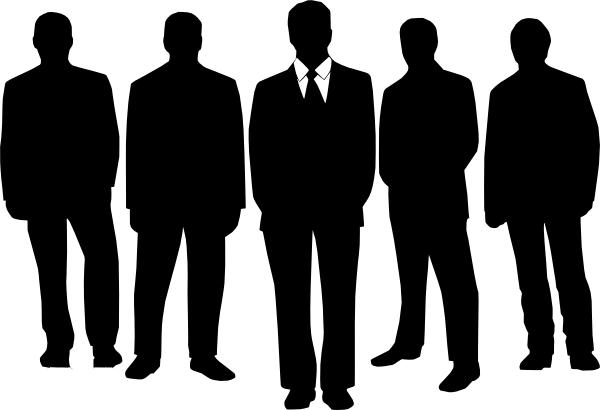 Man in suit silhouette png. Men black clip art