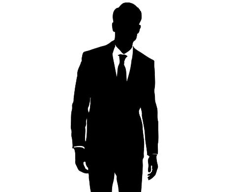 Man in suit silhouette png. Pic mart