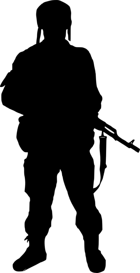 Transparent soldier gun png. Silhouette free images toppng