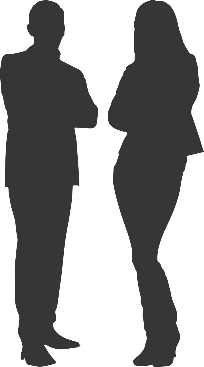Man silhouette png. And woman transparent stickpng