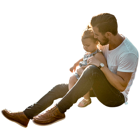 Man sitting down on floor png. A hipster dad enjoying