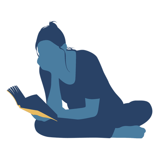 Man sitting on floor png. Woman reading book crossed
