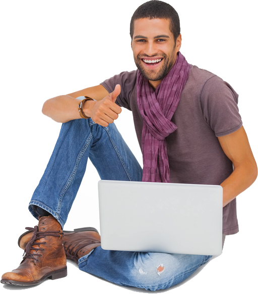person sitting on the floor png